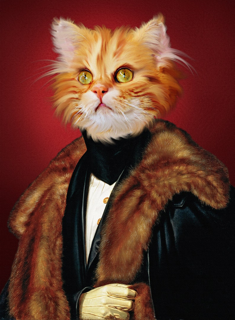 Your cat as a Lord,Custom Pet portraits,custom pet painting,royal Pet Portrait,unique gifts,funny gifts,dog,pet art,cat art,cat,dog art