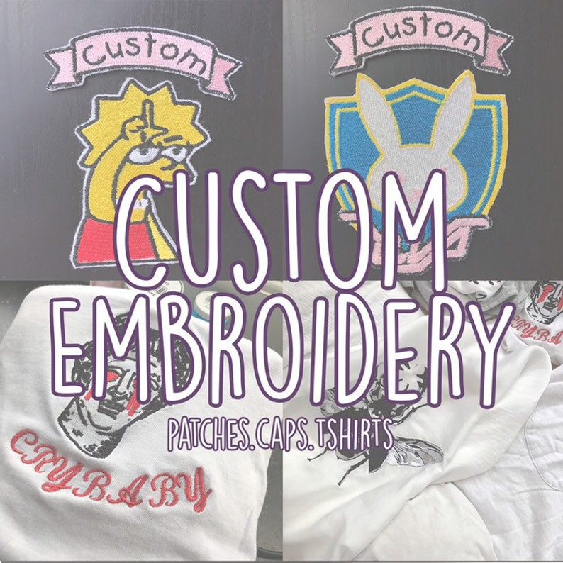 Custom Embroidery Patch - Custom Iron On Embroidered Patch - Personalised  Design Logo Embroidery Patch - Custom Name Patches