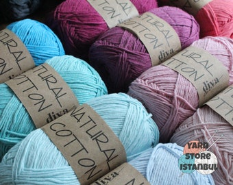 16 Soft Cotton Yarn Skeins for Crochet and Knitting, 1200 yard ... | 270x340