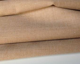 NEW Designer Light Orange colour 100/% Linen Suiting Fabric 58'' 148 cm Craft