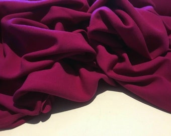 "NEW Beautiful Pink Cerise Colour Washable Wool Fabric 57/"" 145 cm Cloth Garment"