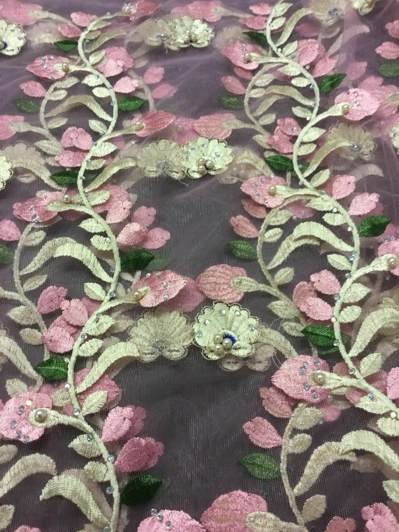 New Beautiful High Class Designer Animal Floral Border Matt Satin Print Fabric