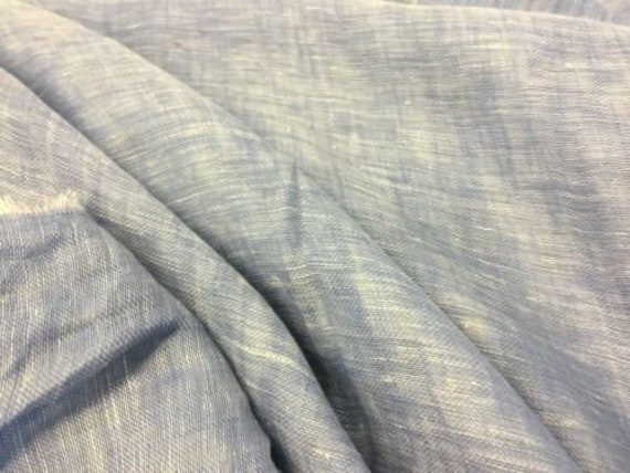 "NEW Designer Aqua 100/% Cotton Denim Chambray Fabric 61/"" 156cm Shirt Dress Jeans"