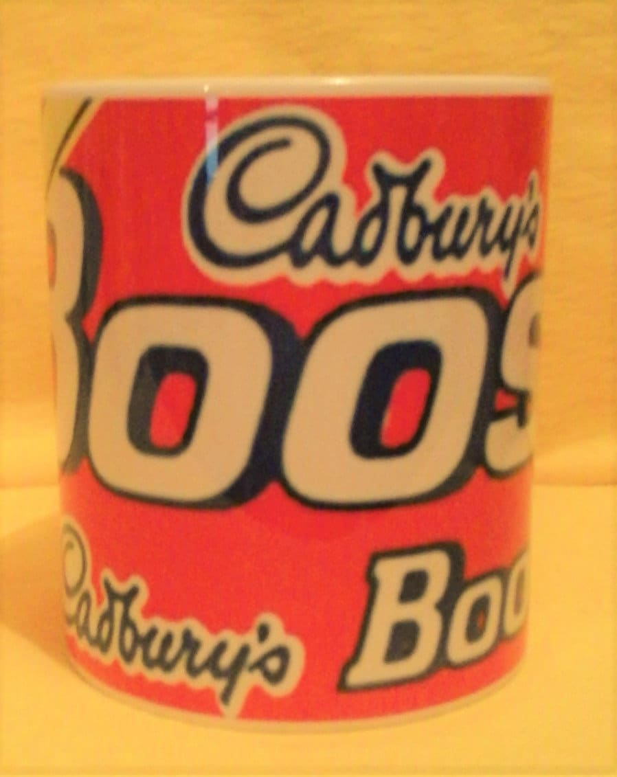 Retro Coconut Boost Wraparound Chocolate Bar On A Mug