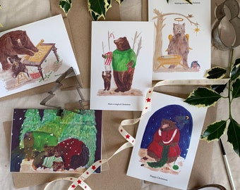 PRE ORDER Have a Beary Happy Christmas Card set
