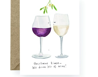 PRE ORDER Christmas Time Wine Card