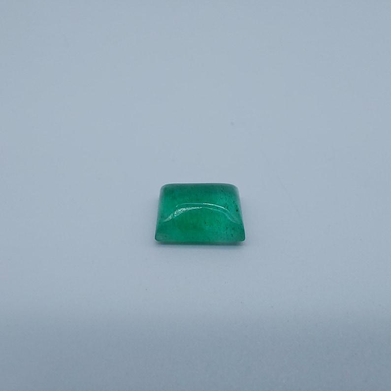 9.8x7.6x4.4 MM 2.80 Carat Size Natural Emerald Cabochon Zambian Emerald Rectangle Shape Loose Gemstone For Ring Man /& Woman