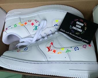 64c4f34447acfd Nike Air Force 1 - Louis Vuitton   Rainbow Custom