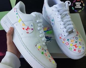 ce1806858c188 Nike Air Force 1 - L and V / Neon Rainbow Custom
