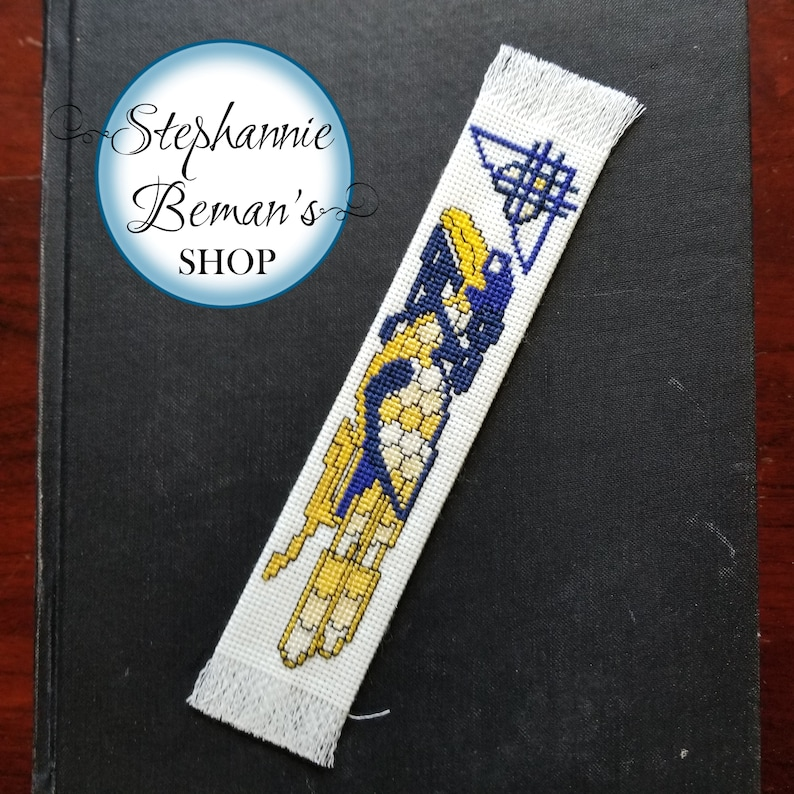 Hand Stitched Bookmark  Celtic-Styled Eagle Hand Stitched image 0