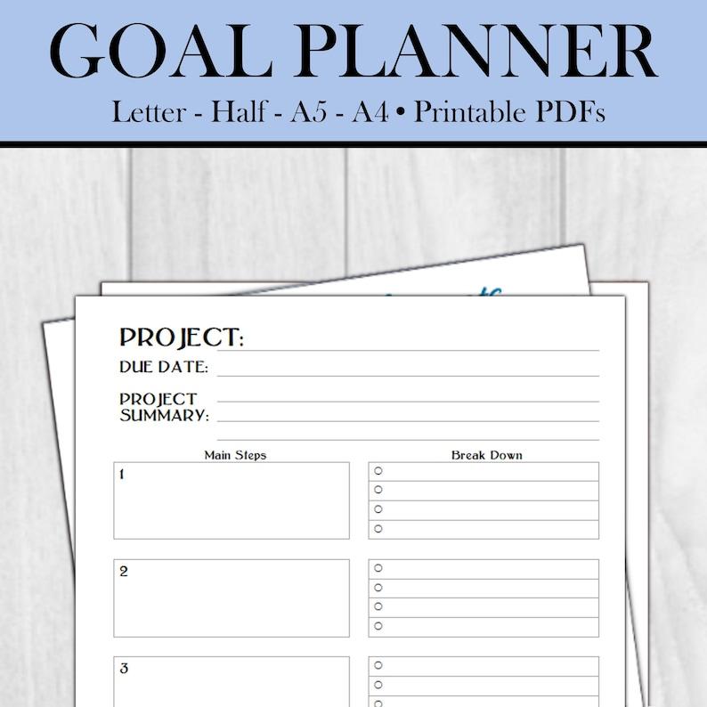 Goal Planner  Printable 7-Page Goal Planner Insert  image 0