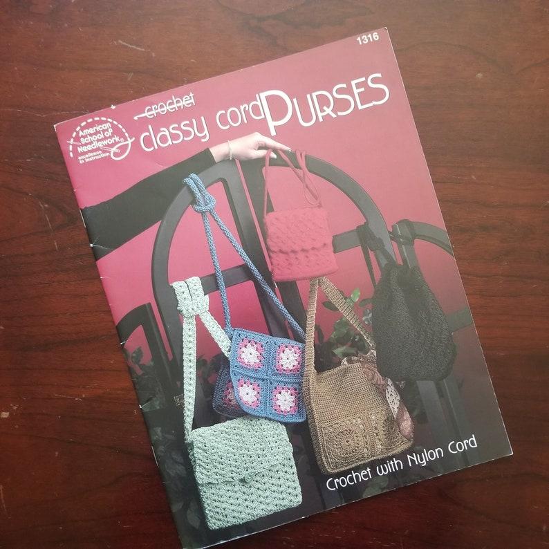 Crochet Classy Cord Purses with Nylon Cord  Crochet Purse image 0
