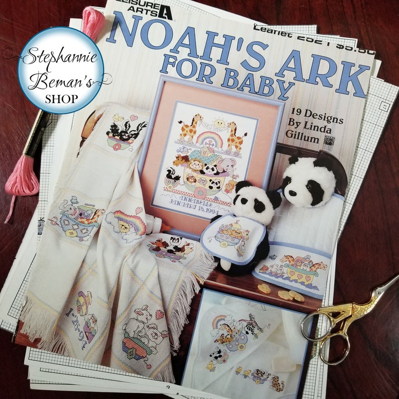 19 Cross Stitch Patterns for Baby  Noah's Ark for Baby image 0