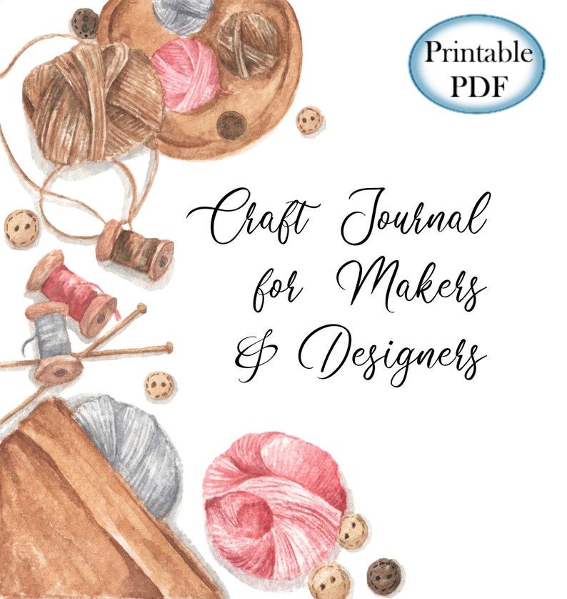 Printable Journal Set for Handmade Crafts  Letter & Half Size image 0