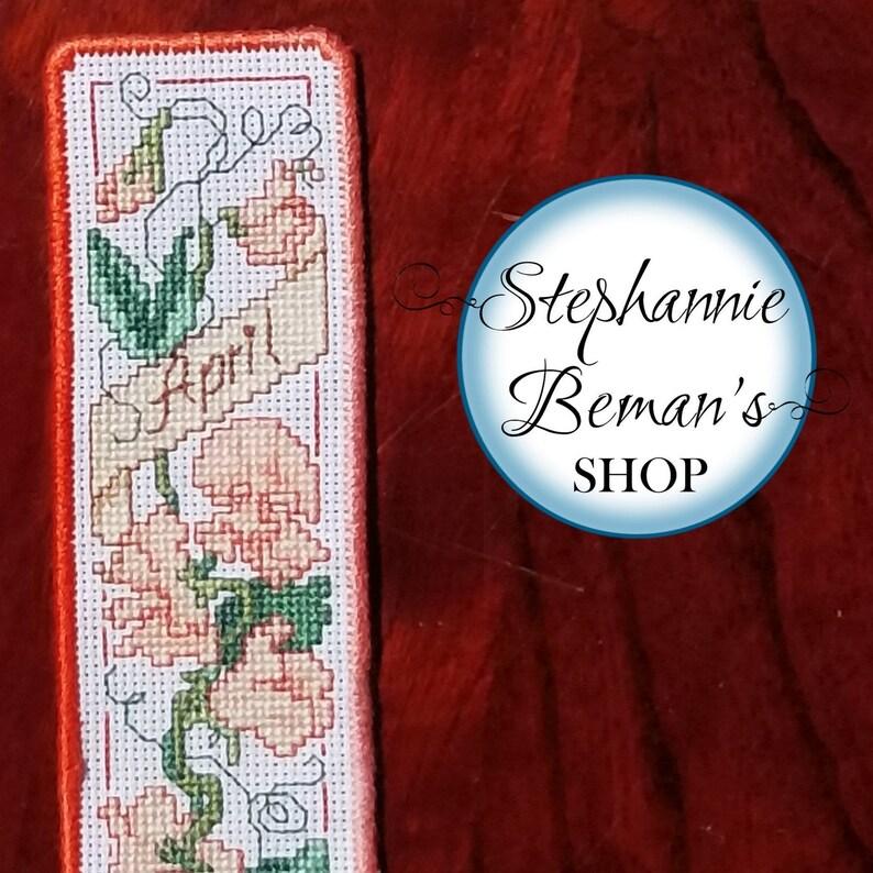 Sweet Pea Flower Bookmark  Optional Personalized Bookmark  image 0