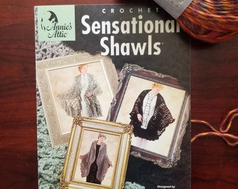 6 Crochet Shawl Patterns - Sensational Shawls by Shirley Brown - Vintage Crochet Shawl Patterns from Anne's Attic
