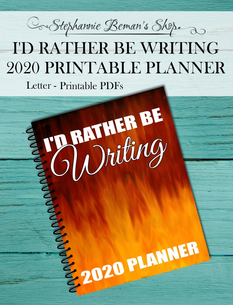 I'd Rather Be Writing Planner 2020 Planner Writer's image 0