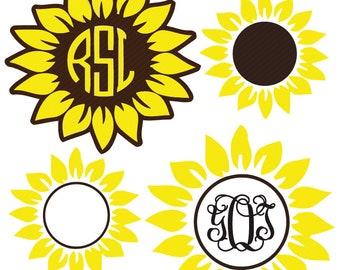 Sunflower svg cut file   Etsy