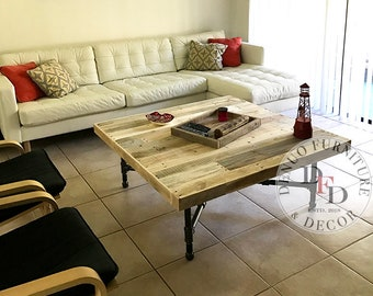 Charmant Industrial Coffee Table, Reclaimed Pallet Coffee Table, Square, Reclaimed  Pallet Wood, Reclaimed Wood, Round, Coffee Table, Barn Wood