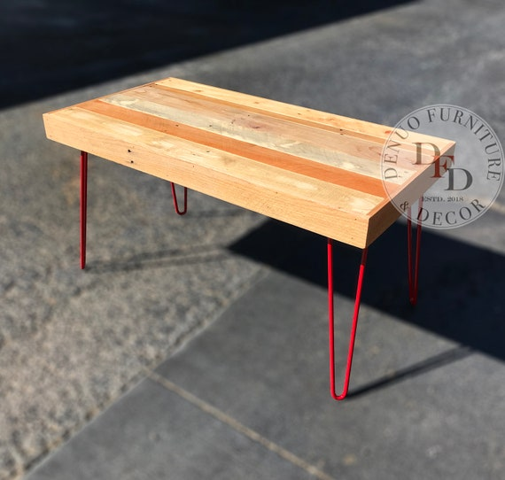 Swell Reclaimed Pallet Coffee Table Red Hairpin Legs Rectangular Square Reclaimed Pallet Wood Reclaimed Wood Round Coffee Table Industrial Lamtechconsult Wood Chair Design Ideas Lamtechconsultcom