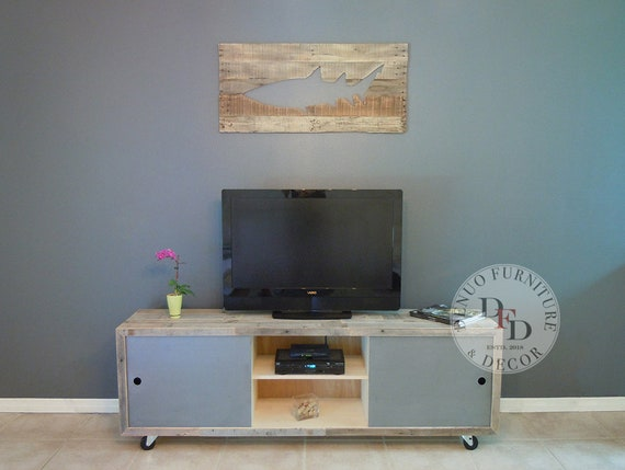 Reclaimed Wood Tv Stand Pallet Tv Media Console Sale Etsy