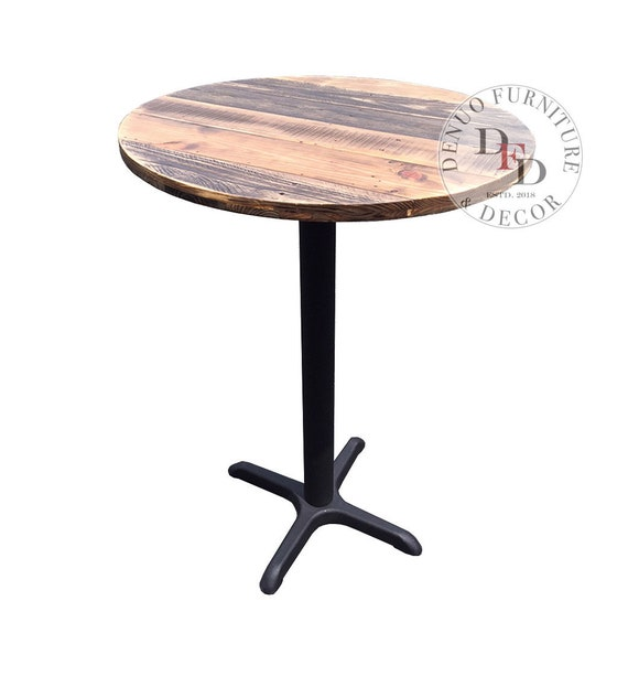 Round Dining Table, FREE SHIPPING, Pallet Bar Table, Reclaimed Wood Round  Bar Table, Pub, Patio, Cafe, Dinning, Reclaimed Pallet Wood