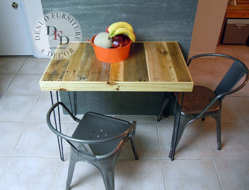 Remarkable Pallet Dining Table Sale Reclaimed Pallet Kitchen Breakfast Table Hairpin Legs Reclaimed Pallet Wood Reclaimed Wood Home Interior And Landscaping Synyenasavecom