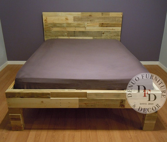 Reclaimed Wood Bed Frame Pallet Bed Sale Twin Size Full Etsy