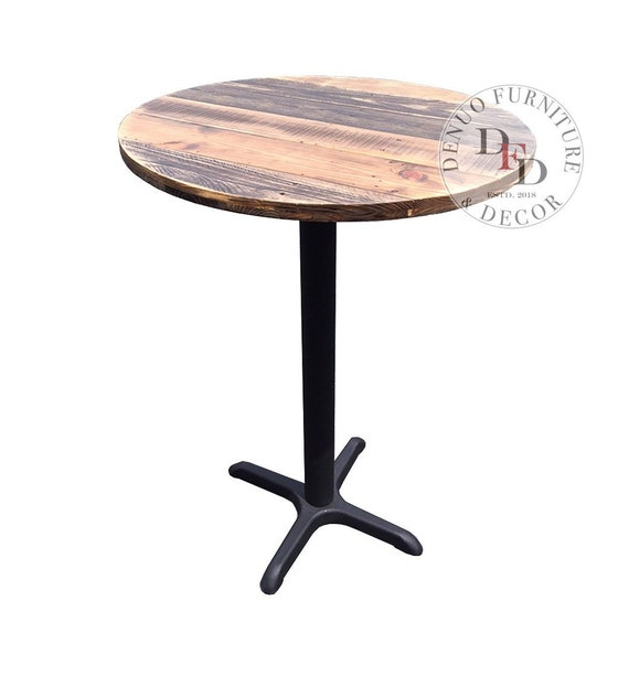 Dining Table Reclaimed Wood Round Bar, Round Wood Bar Table