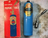 Vintage Belknap BlueGrass Torch with Original Labels, Box, and Tip. Made in USA.