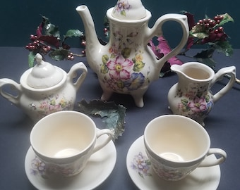 Little Girls Tea Set Etsy