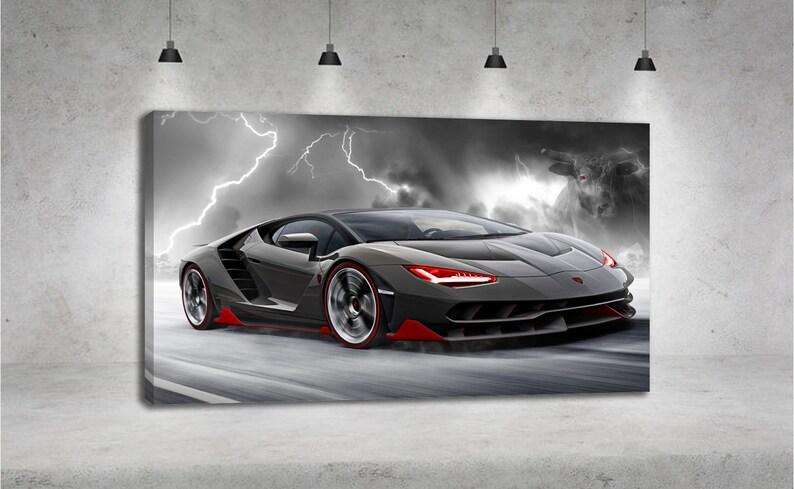 Lamborghini Centenario Storm Lightning Bull Car Yellow Car Etsy
