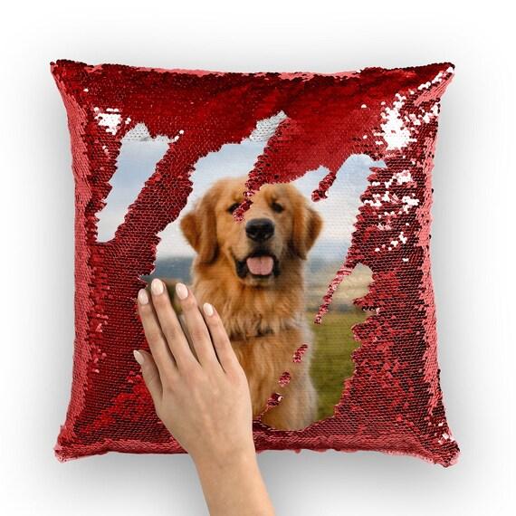 22x22 Handmade Cushion Personalized Dog Needlepoint Pillow Cover Golden Retriever Mom Gift Golden Retriever Gift Dog Throw Pillow