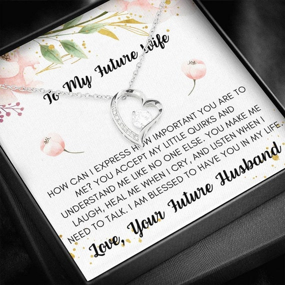 Fiancee Necklace, Engagement Gift for Future Wife, Sentimental Gift for Bride from Groom, Birthday Gift for Fiancee, Fiance Gift