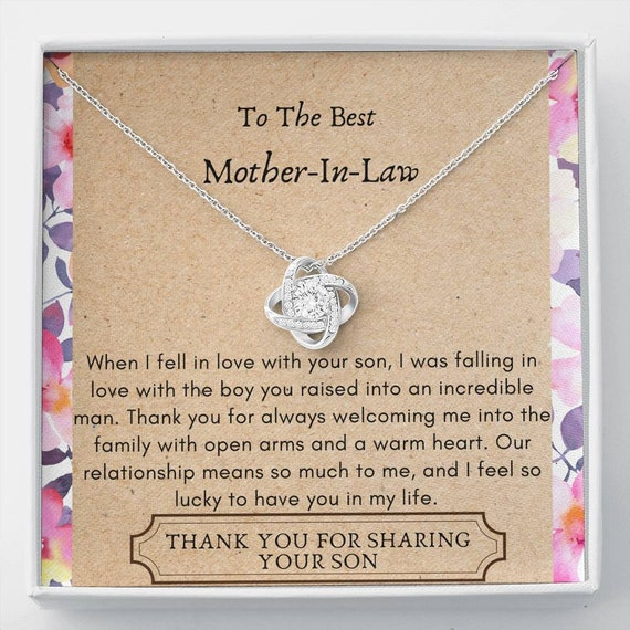 Mother in Law, Mother in Law Gift, Mother In Law Necklace, Mother of the Bride Necklace, Wedding Gift