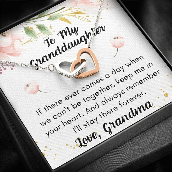 Granddaughter Gift Necklace, Gift from Grandpa, Granddaughter Birthday, Grandpa Granddaughter Jewelry, Christmas Gift for Granddaughter,