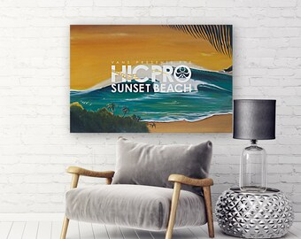 f7d0f27572 2018 VANS HIC PRO Sunset Beach Competition Print - Surfing Poster