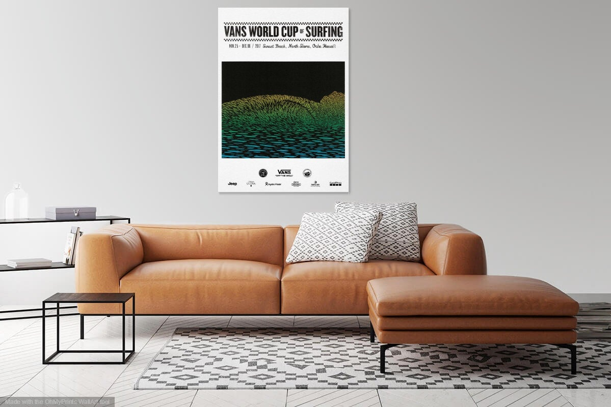 37926fd166 2017 VANS World Cup of Surfing Print Surfing Poster