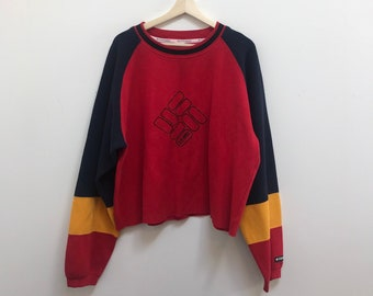 898f87aecf2 Vintage Columbia Sportswear Colorblock Pullover Sweater // Size Medium/Large