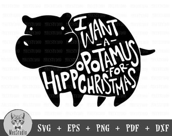 I Want A Hippocampus For Christmas.Want A Hippopotamus Etsy