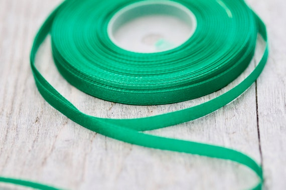 1 metre trim of Teal luxury Double Faced Satin Ribbon 6mm wide