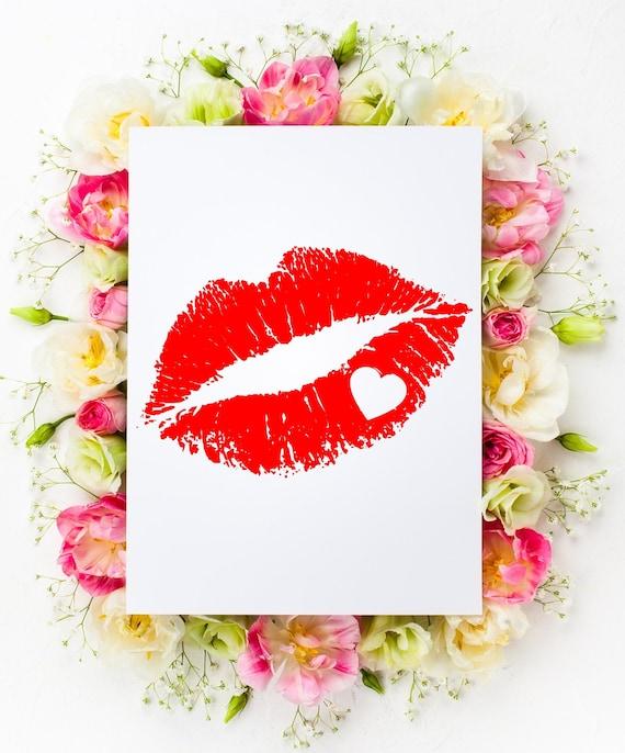 Lips Svg Heart Svg Heart Lips Svg Love Svg Svg File Etsy