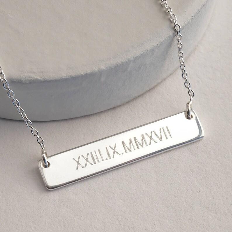 rose gold filled Custom bar necklace bar necklace bar necklace personalized bar necklace name necklace