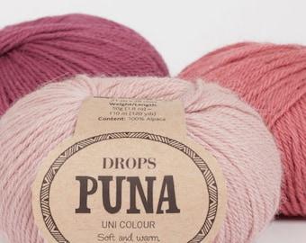 DROPS Puna Soft Alpaca wool yarn Knitting yarn Garnstudio Drops Design Pure alpaca