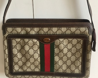 8f8607e6748c Gucci classic crossbody bag, Vintage Gucci canvas shoulder bag, Gucci  Monogram Bag, Gucci Gang, Gucci cloth crossbody