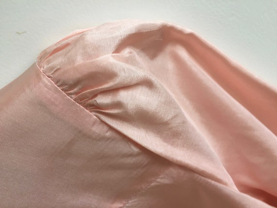 Vintage pink shirt with puff sleeves and poets co… - image 8