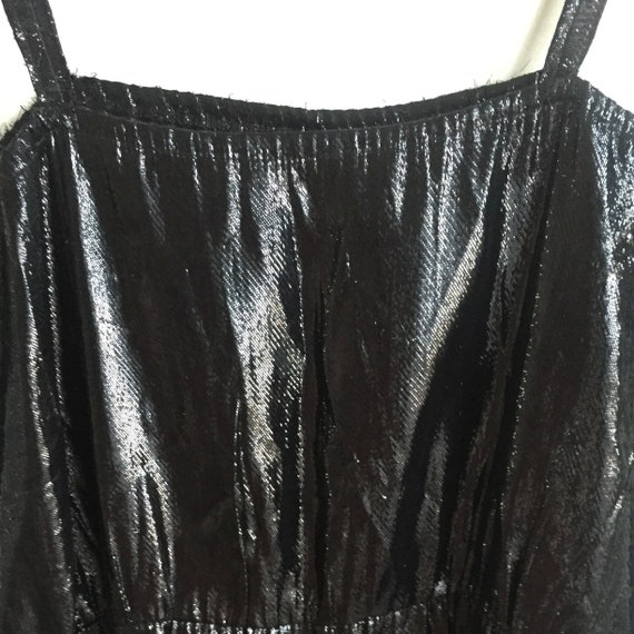 Jumpsuit women, Vintage glitzy metallic  black jum