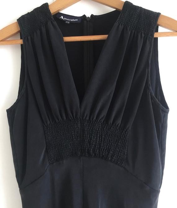 Black midi slip dress, Aquascutum vintage silk mid