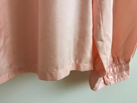 Vintage pink shirt with puff sleeves and poets co… - image 6