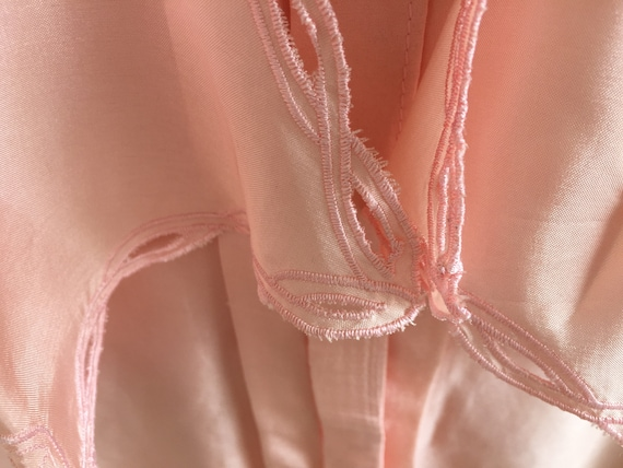 Vintage pink shirt with puff sleeves and poets co… - image 2